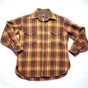 PENDLETON Pure Virgin Wool Plaid Board Shirt USA